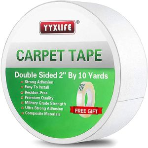 2. YYXLIFE Removable Double Sided Carpet Tape for Area Rugs, Hardwood Floors Etc.