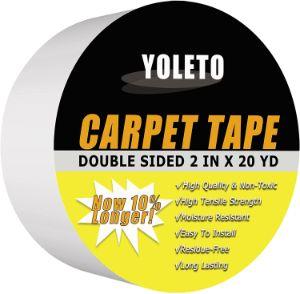 6. YOLETO Double-Sided Carpet Tape - Heavy Duty Rug Gripper Tape for Hardwood Floors