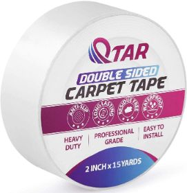 9. QTAR Removable Double-Sided Anti-Slip Carpet Tape for Indoor Outdoor Rugs