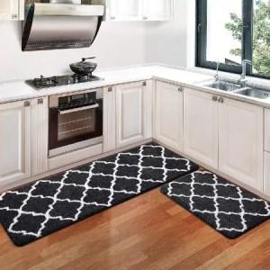 KMAT Non-Slip Super Absorbent Washable Runner Rugs For Hardwood Floors In Kitchen