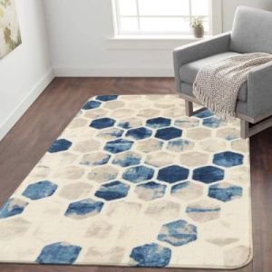 Lahome Non-Slip Area Rug for Living Room Bedrooms - Faux Wool Rugs For Hardwood Floors