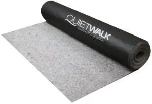 QW360LV QuietWalk Luxury Vinyl Acoustical Flooring Underlayment, Sound-Moisture Resistant