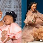 Baby Maxin: McBrown And Daughter Twin In Same Hair, Dress Her 2nd Birthday (Photos)