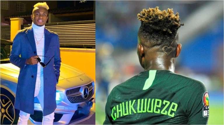La star des Super Eagles, Samuel Chukwueze, change de coiffure et fait clignoter une Mercedes Benz C300 d'une valeur de N160m ▷ Nigeria News