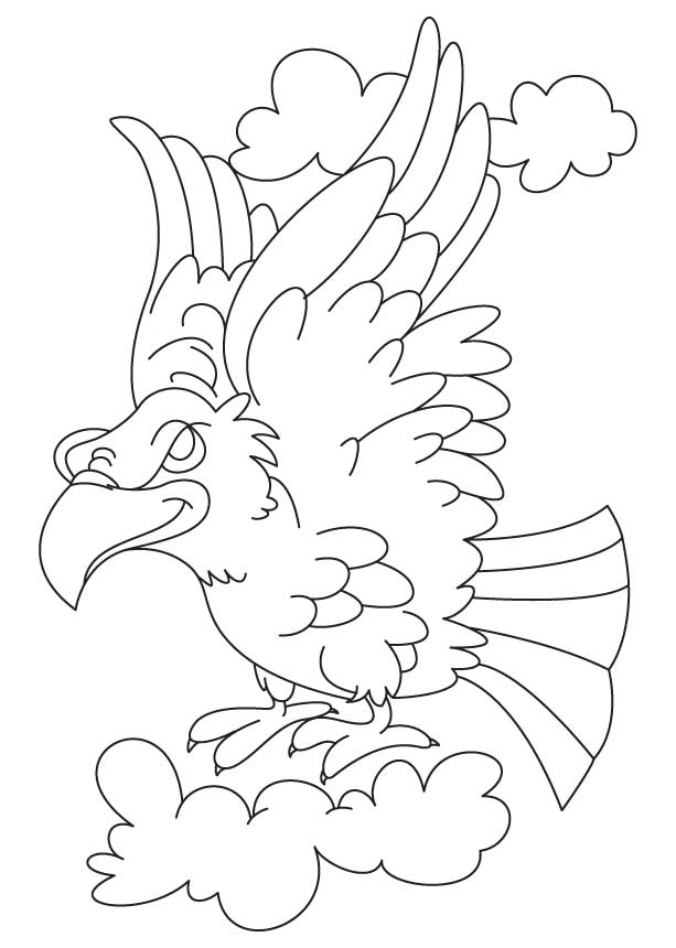 flying eagle coloring coloring pages