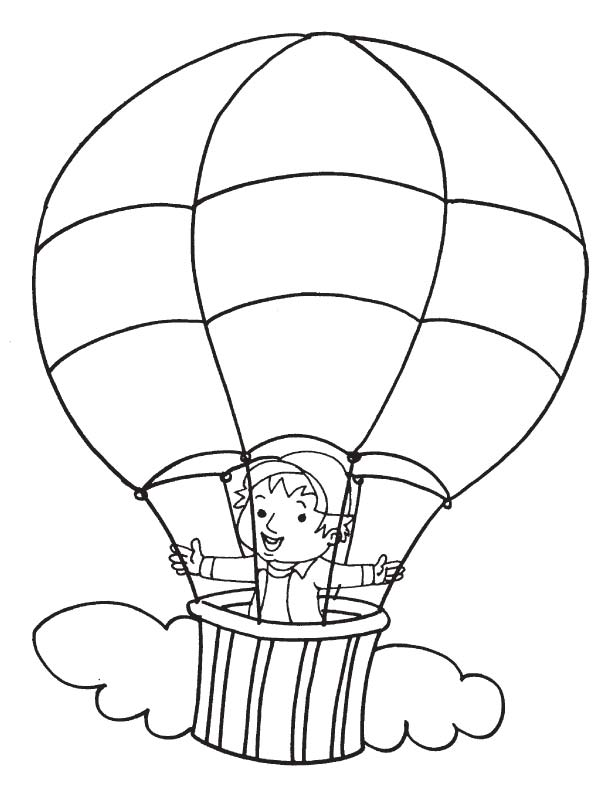 free hot air balloon page for kids best