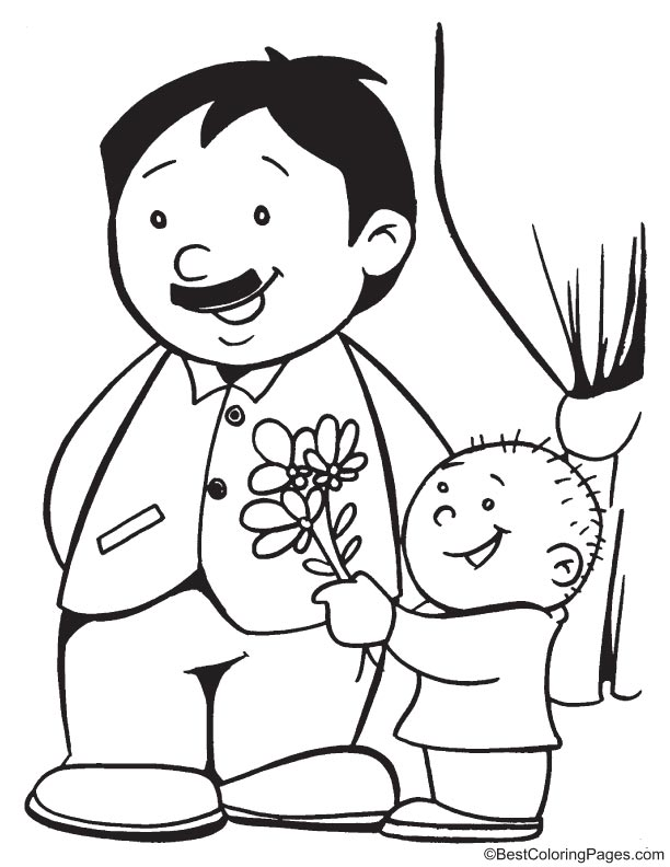 i love you dad coloring page  download free i love you