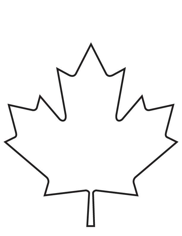 maple leaf coloring page download free maple leaf coloring page for