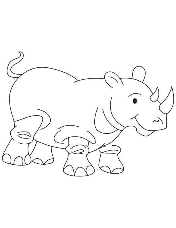 rhinoceros calf coloring page download free rhinoceros calf coloring