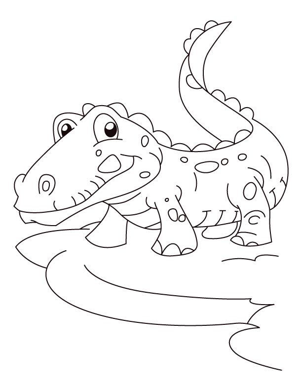 joyful alligator coloring pages download free joyful alligator
