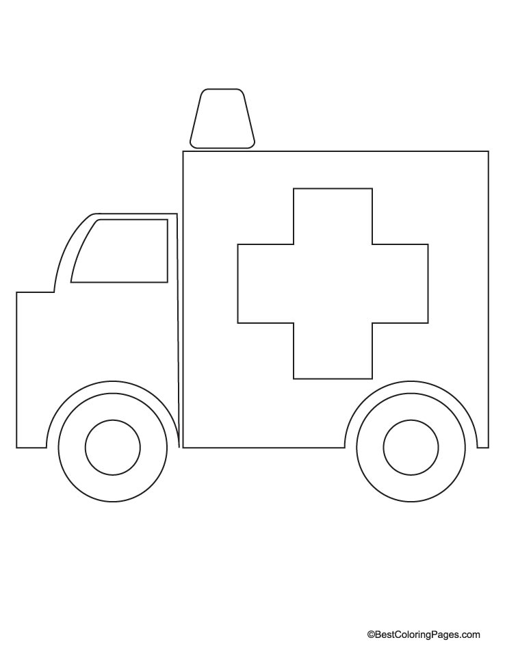 ambulance coloring page download free ambulance coloring page