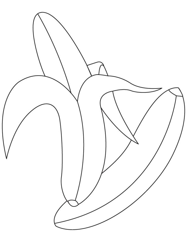 peeled bananas coloring pages download free peeled bananas