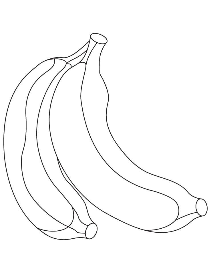peeled banana colouring pages