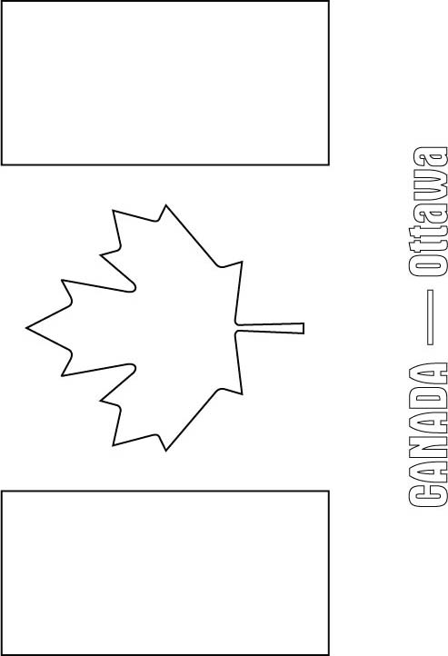 canada flag coloring page download free canada flag coloring