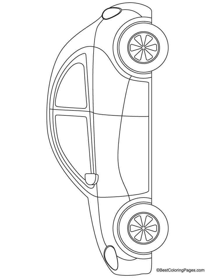 beetle car coloring page download free beetle car coloring page