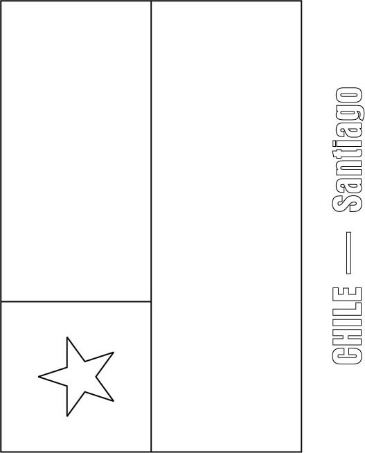 chile flag coloring page download free chile flag coloring page