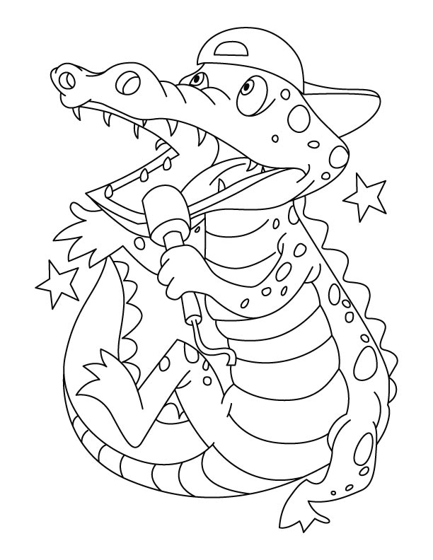 crocodile new singing superstar coloring pages download free