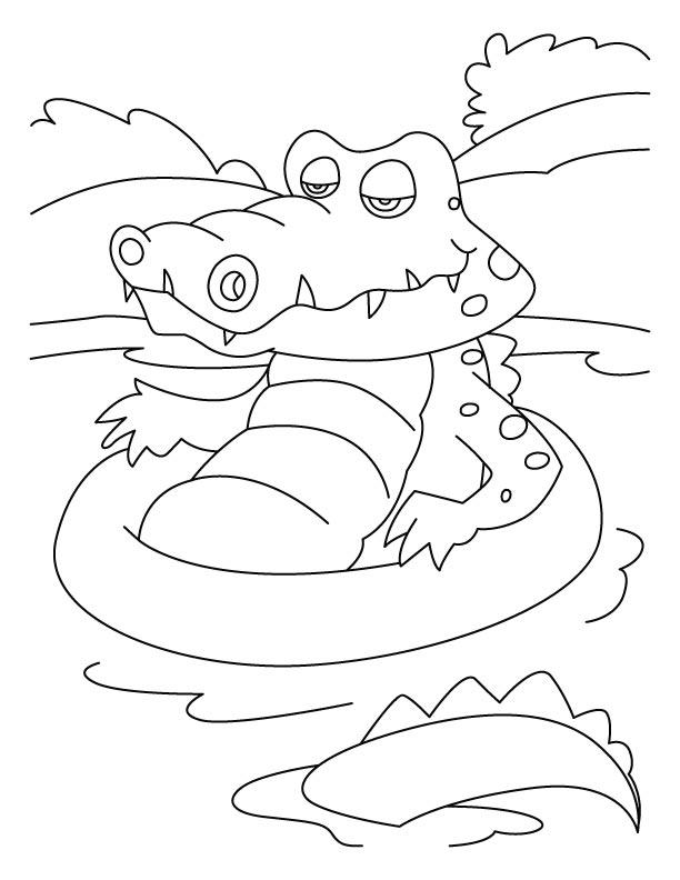 crocodiles favorite bath tub coloring pages download free