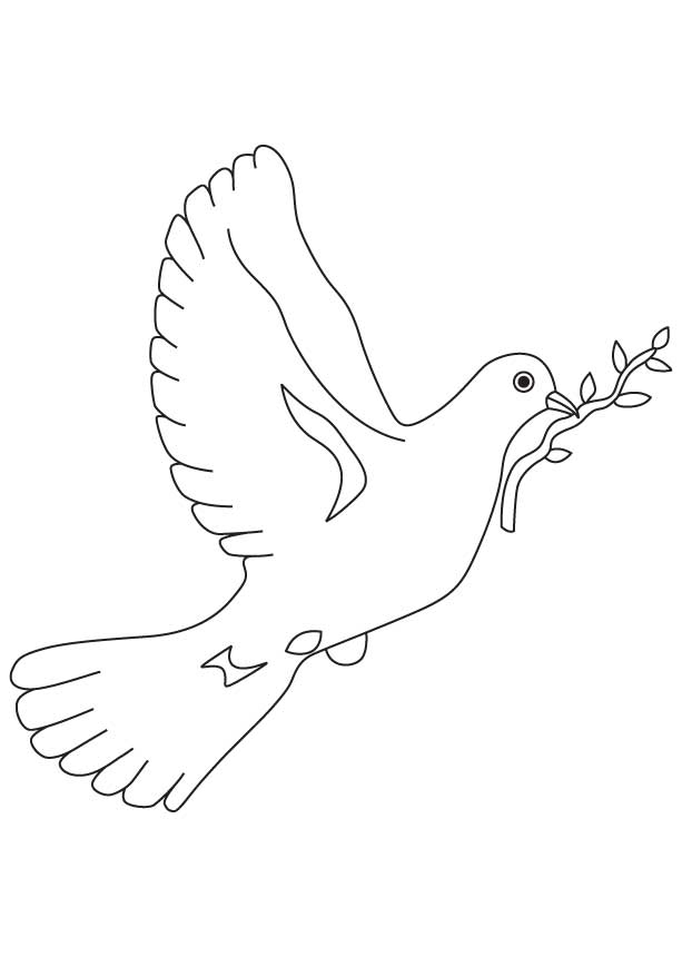 peace doves colouring pages page 3