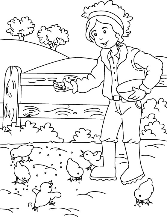 easy farm coloring page - photo #42