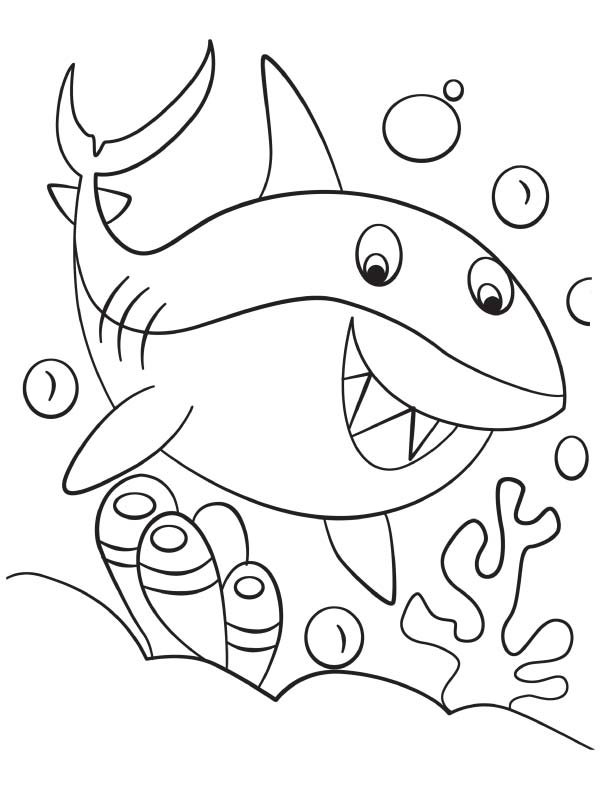 Coloring Pages Sharks more shark coloring pages available on