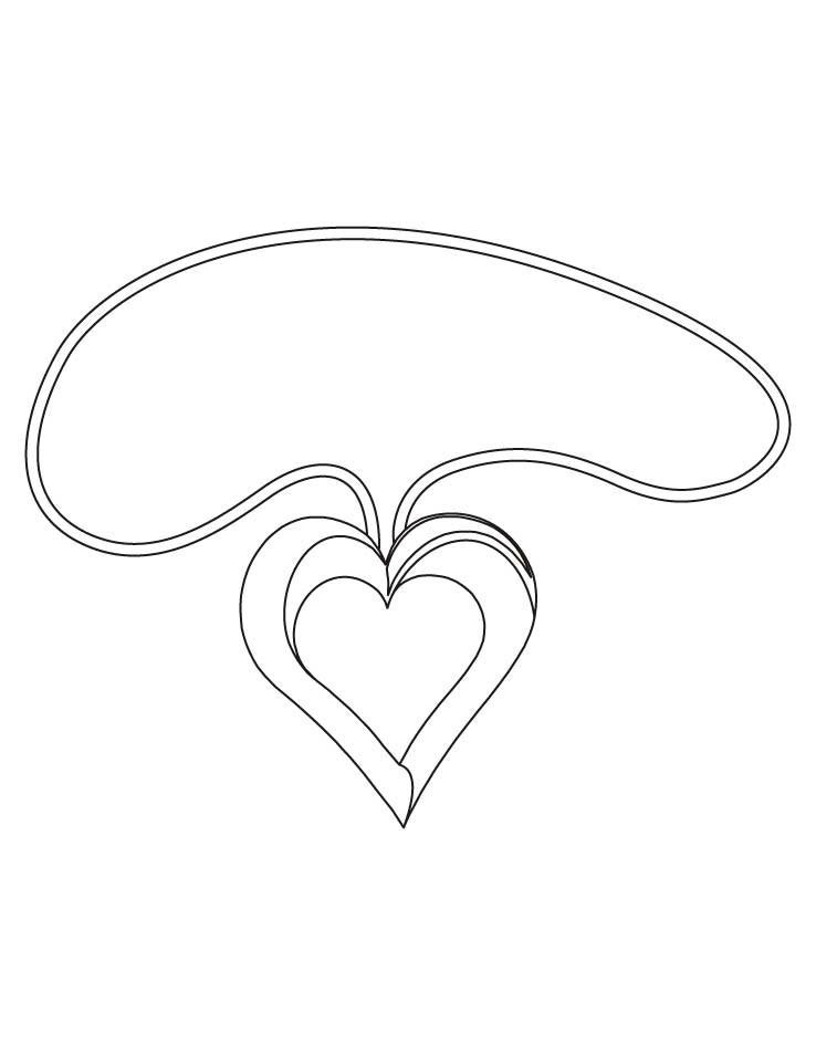 free heart shaped coloring pages cooloring com