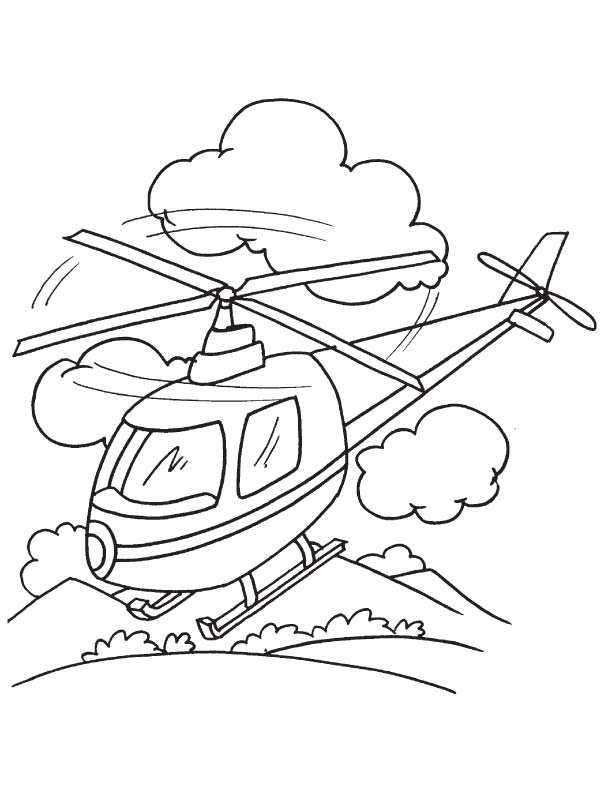 landing coloring page download free helicopter landing coloring page