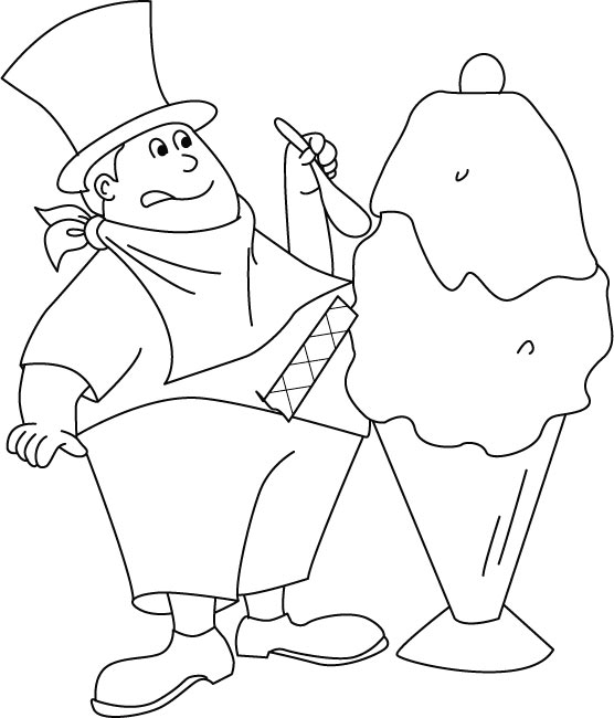 ice cream maker coloring pages  download free ice cream