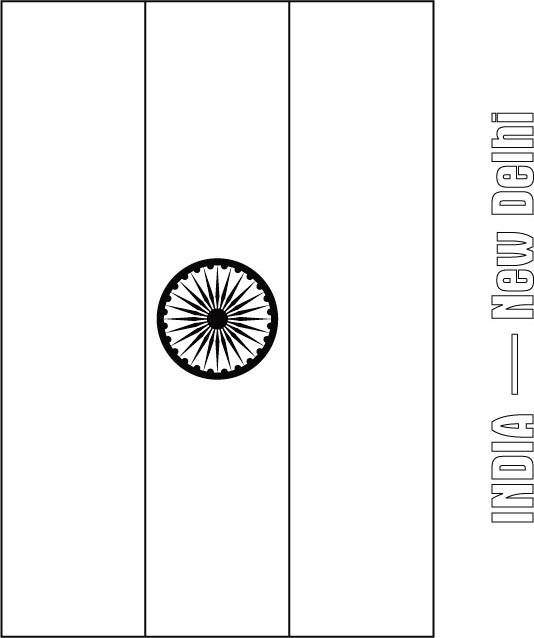 india flag coloring page download free india flag coloring page