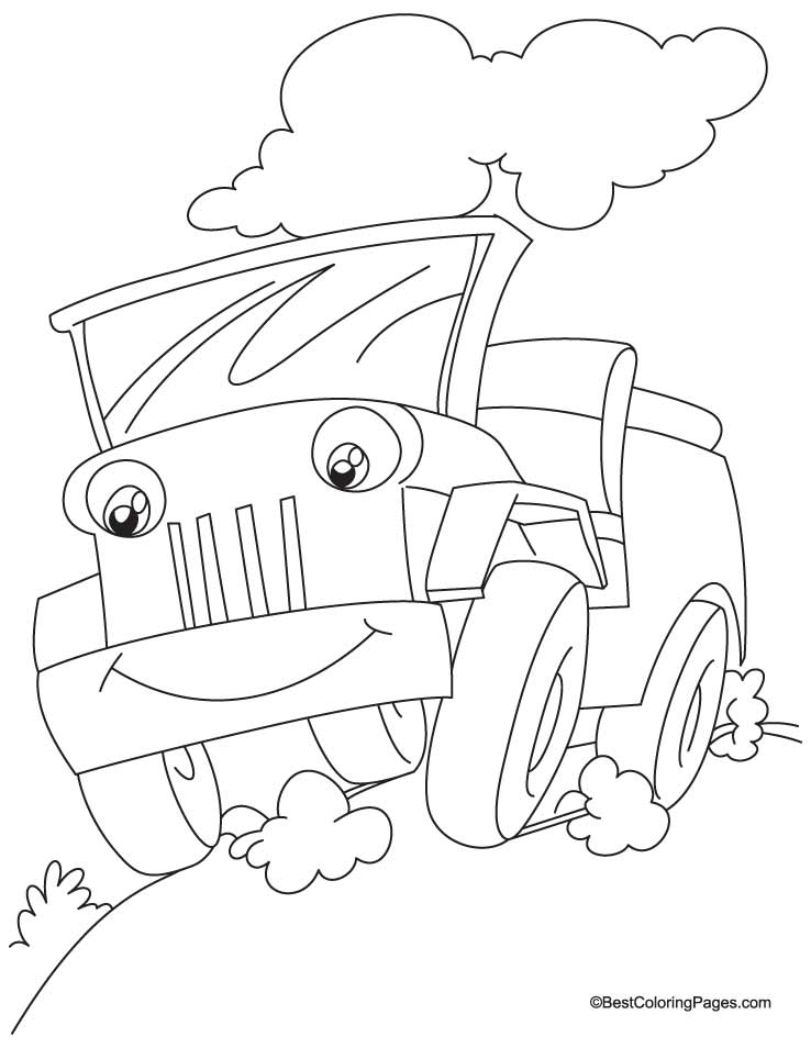 jeep coloring page 3