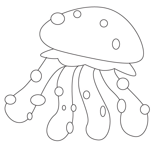 jelly fishes colouring pages