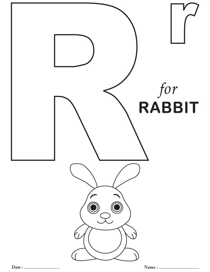 printables alphabet r coloring sheets  download free