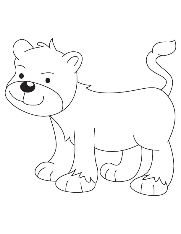 download free lion cub coloring page for kids best coloring pages