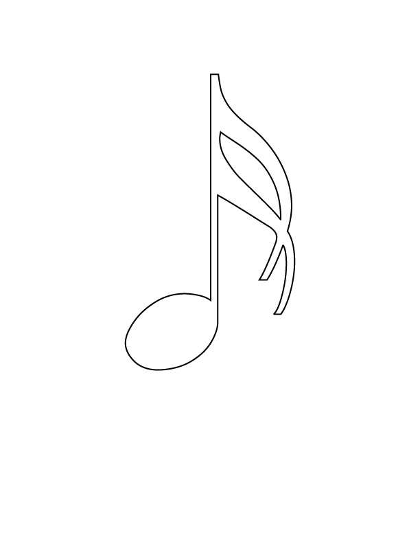 musical notes colouring pages 3