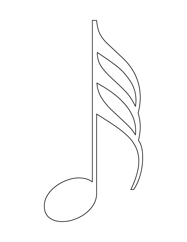 musical note coloring page download free musical note coloring