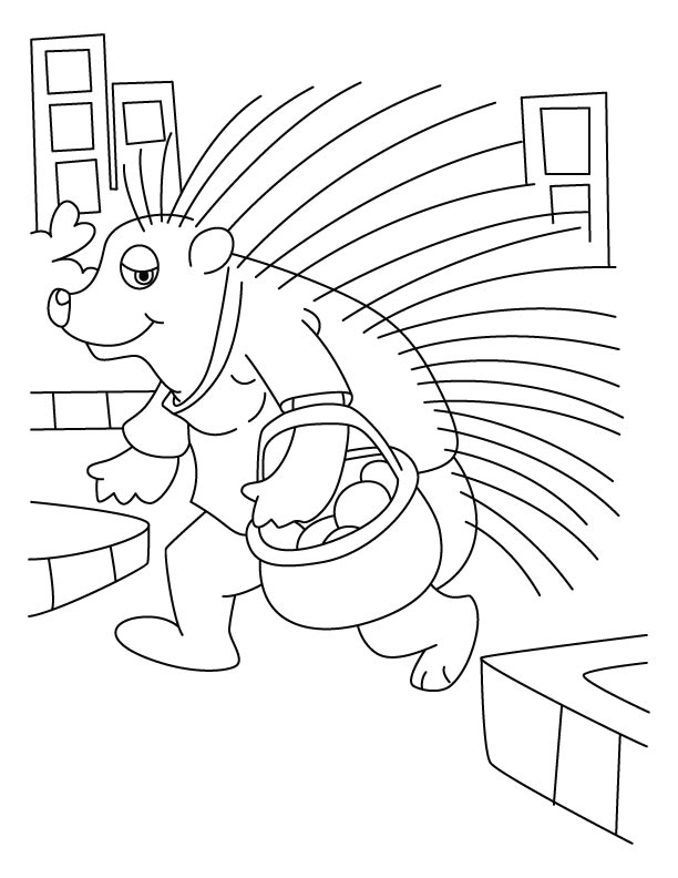 porcupine a quill pig coloring pages download free porcupine a