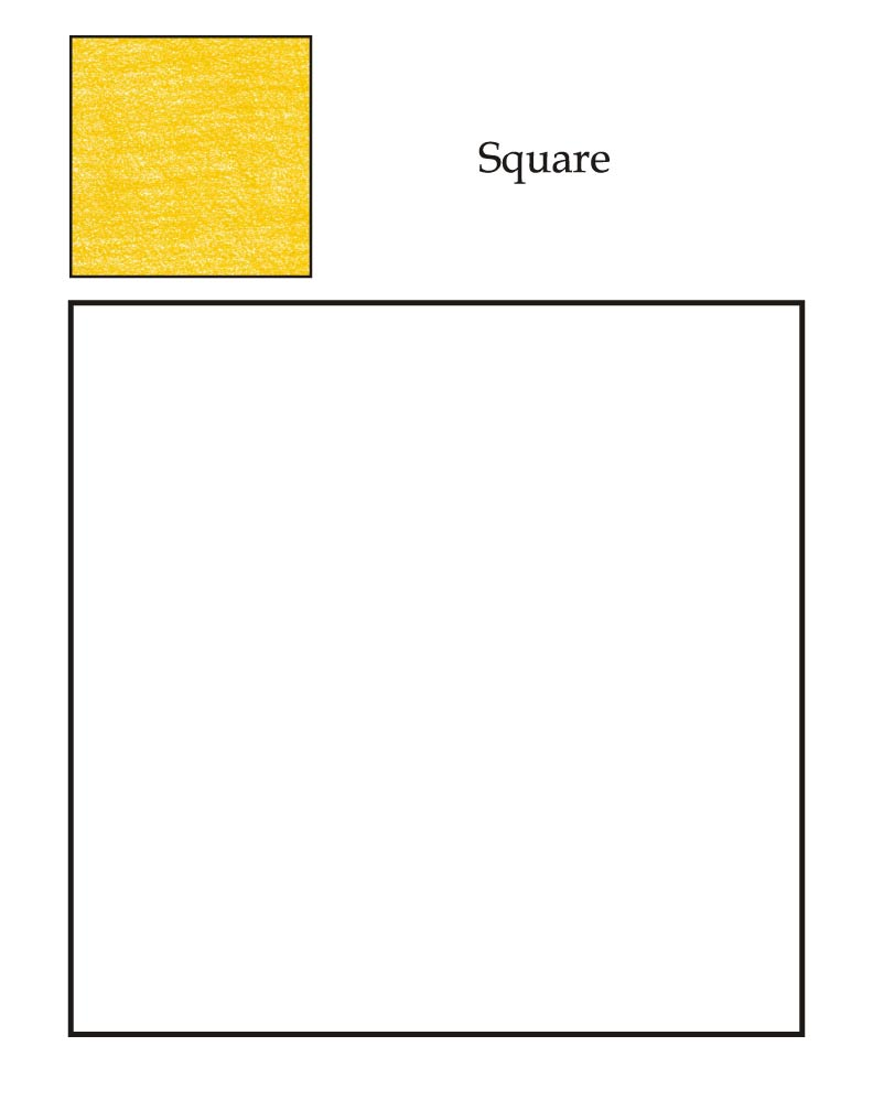 square objects for kids 0 level square coloring page