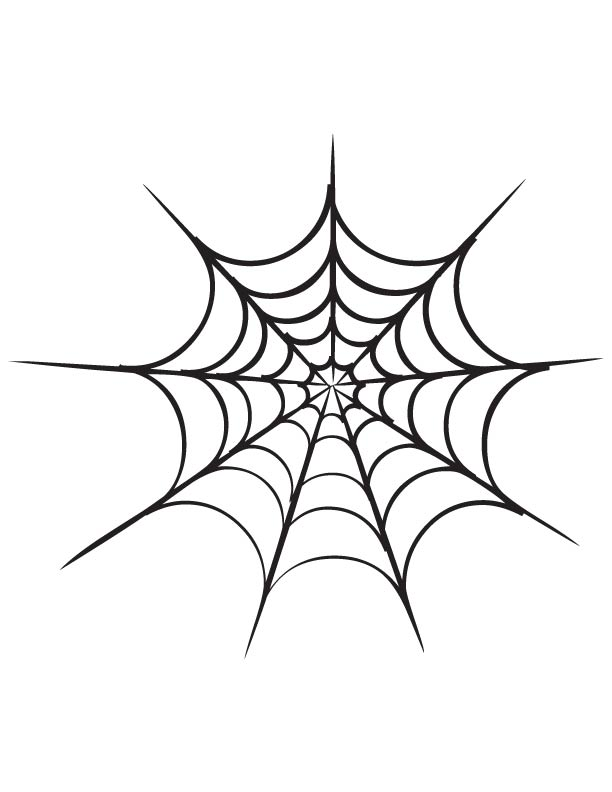 spider web coloring page download free for