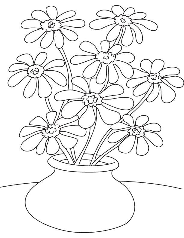 flower pot coloring pages page of 12 susan flowers pot