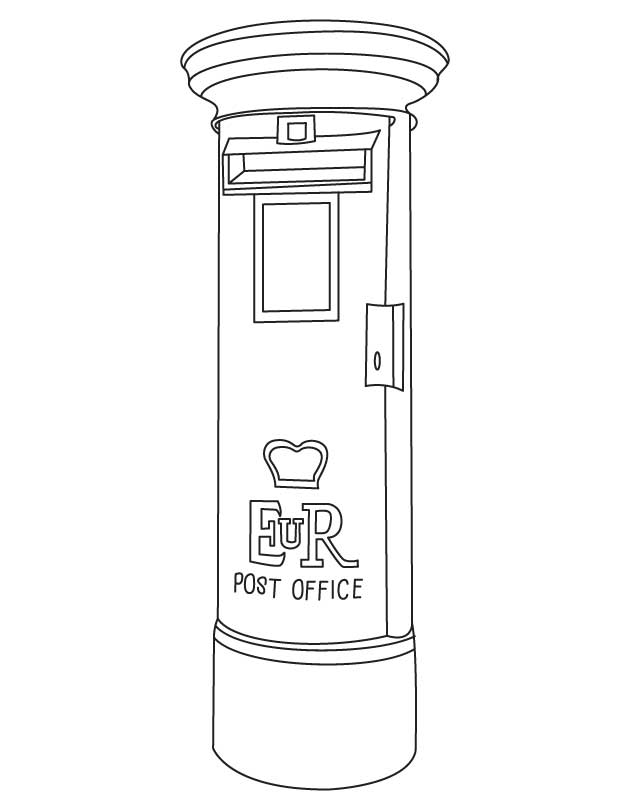 free typical letter box coloring page for kids best coloring pages