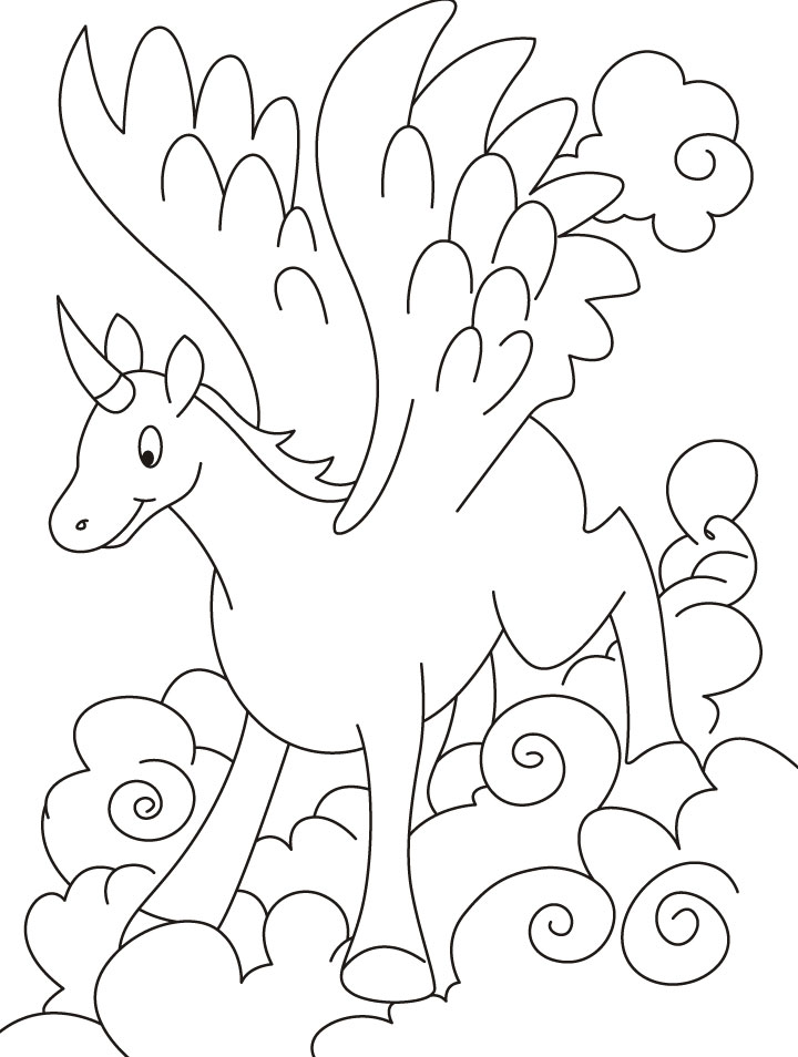 flying unicorn coloring pages download free flying unicorn