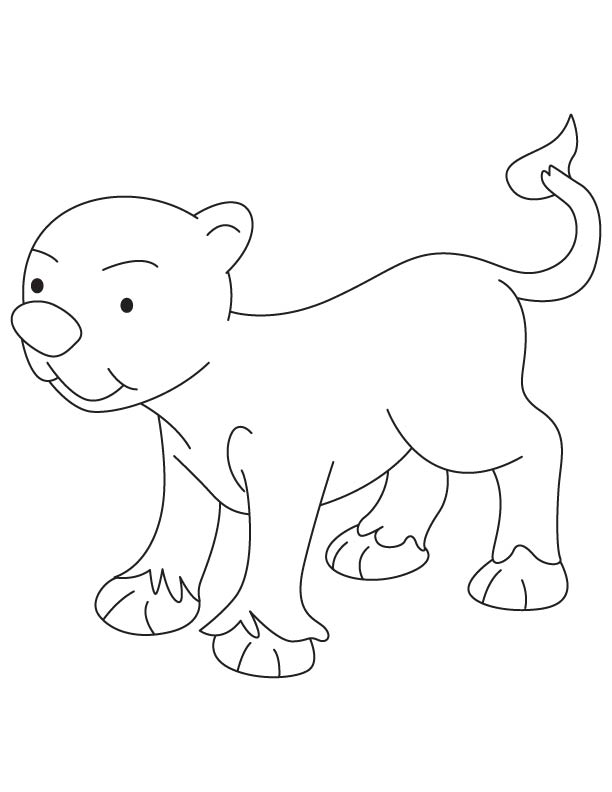 free very small lion cub coloring page for kids best coloring pages