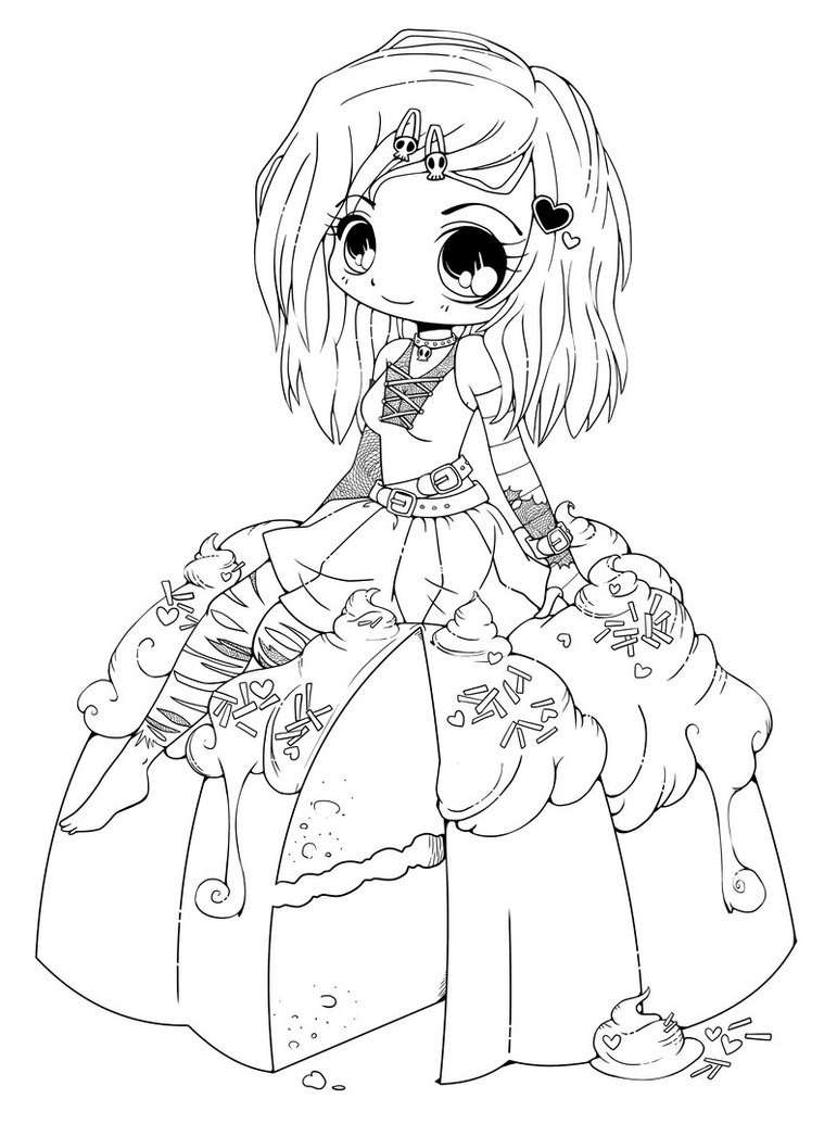 Cute Japanese Coloring Page Novocom Top