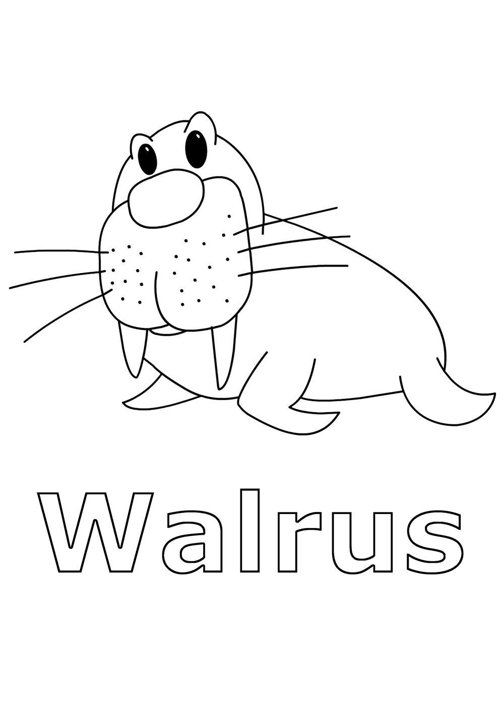 Free Printable Walrus Coloring Pages For Kids | animal coloring pages for toddlers