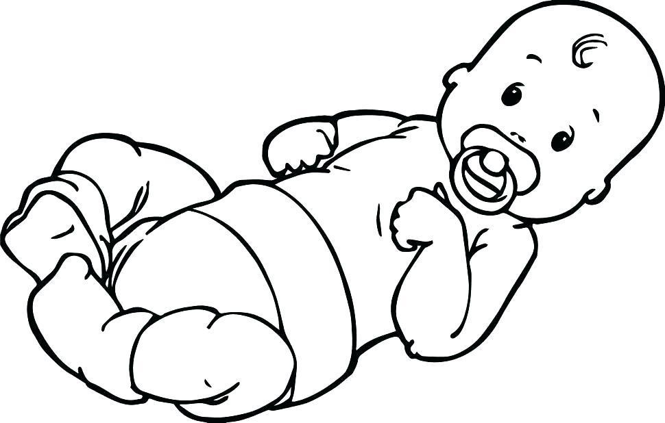 Cute Baby Realistic Baby Coloring Pages Novocom Top