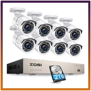 ZOSI 8CH 1080p PoE Security Camera System