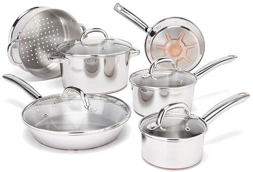 Set Stainless Paula Deen Cookware Steel