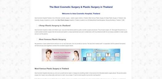 Asia Cosmetic Hospital Bangkok Thailand