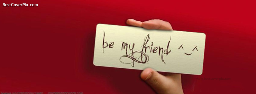 be my friend fb cover