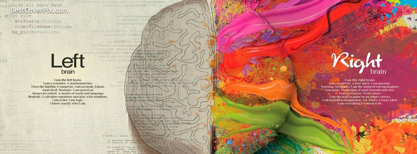 Left Brain Right Brain Facebook Stylish Cover Photo